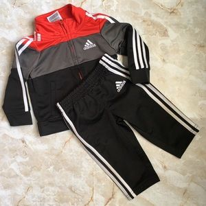 adidas Red/Black Tracksuit for Baby 6mo